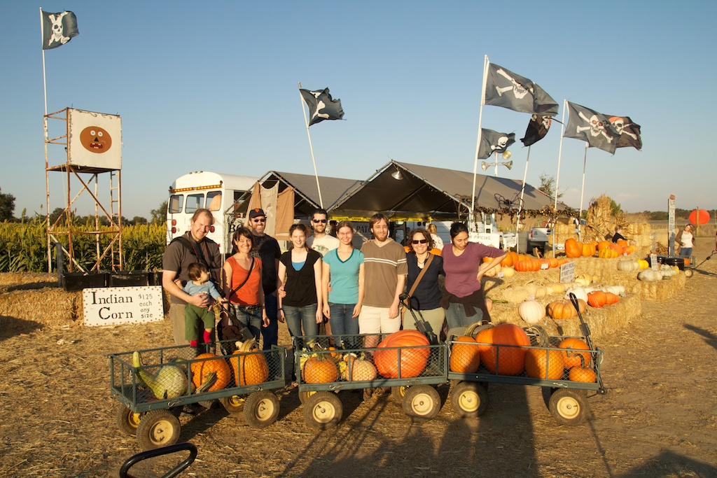 2011 Picking pumpkins