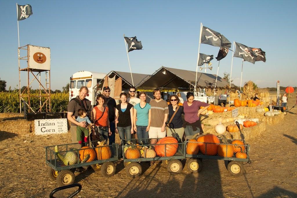 2011 Picking pumpkins