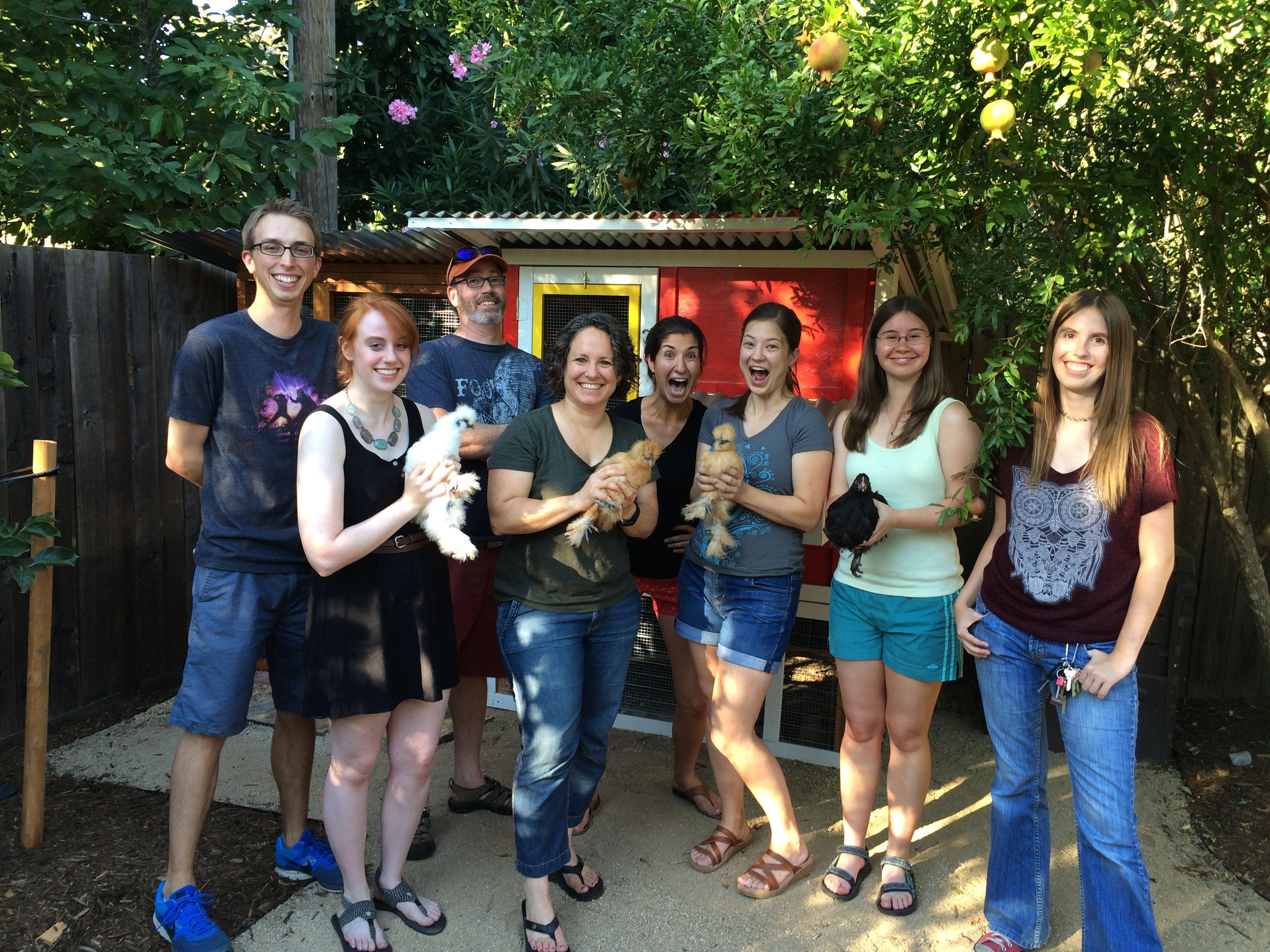 Lab visit to Gail's coop