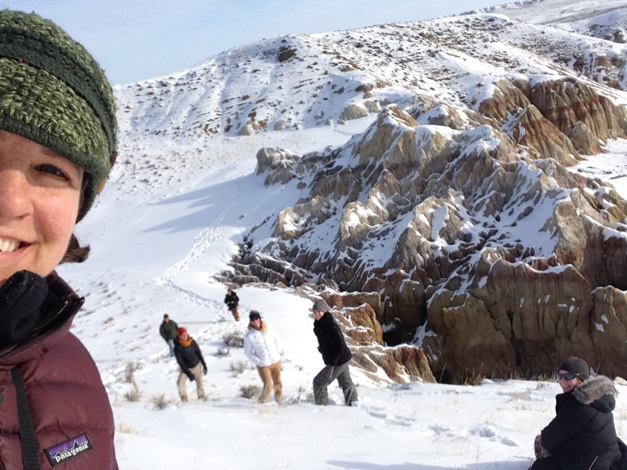 Hiking in the badlands 2015