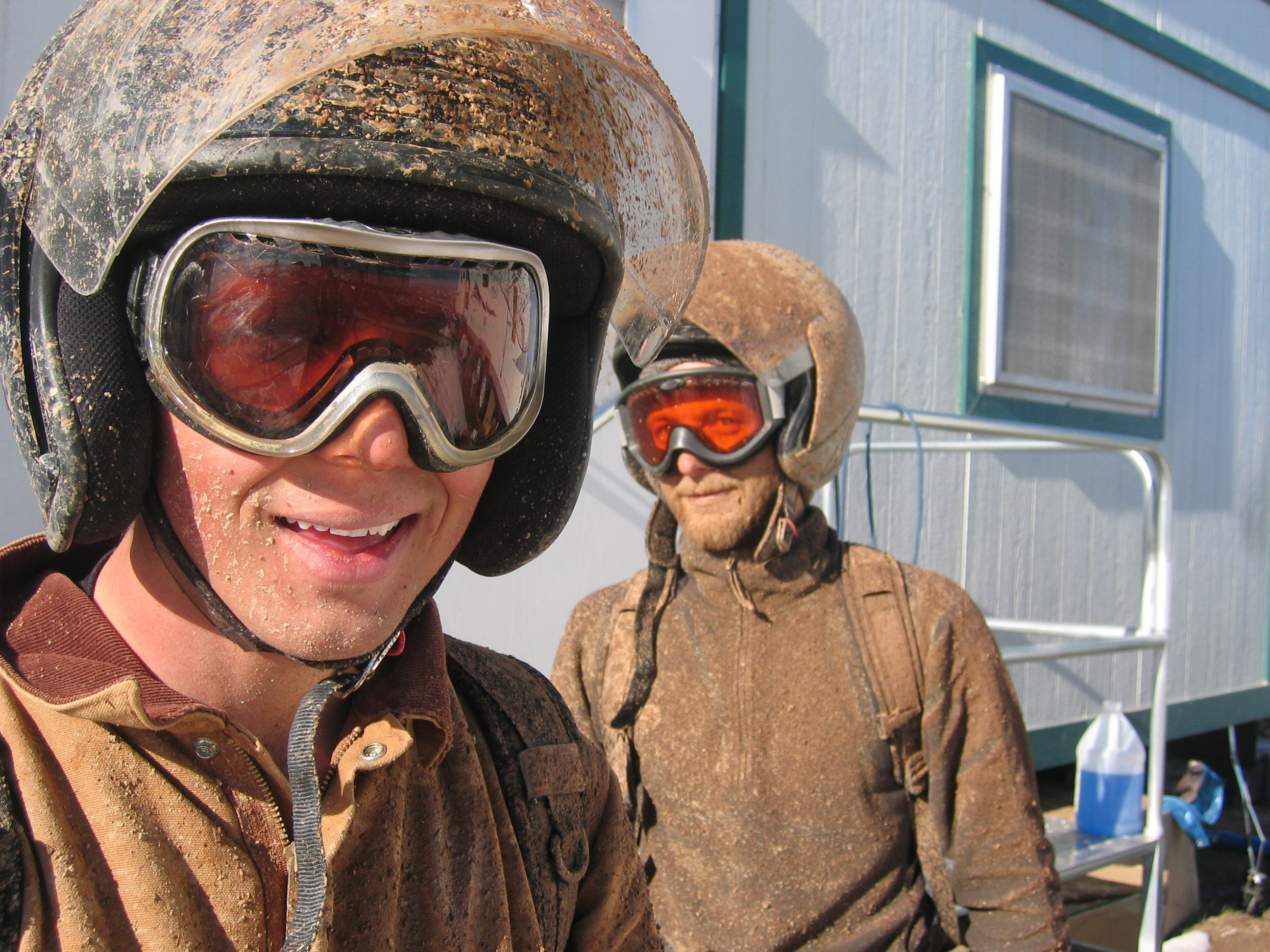 After the snow, muddy days for the noise crew (2007)