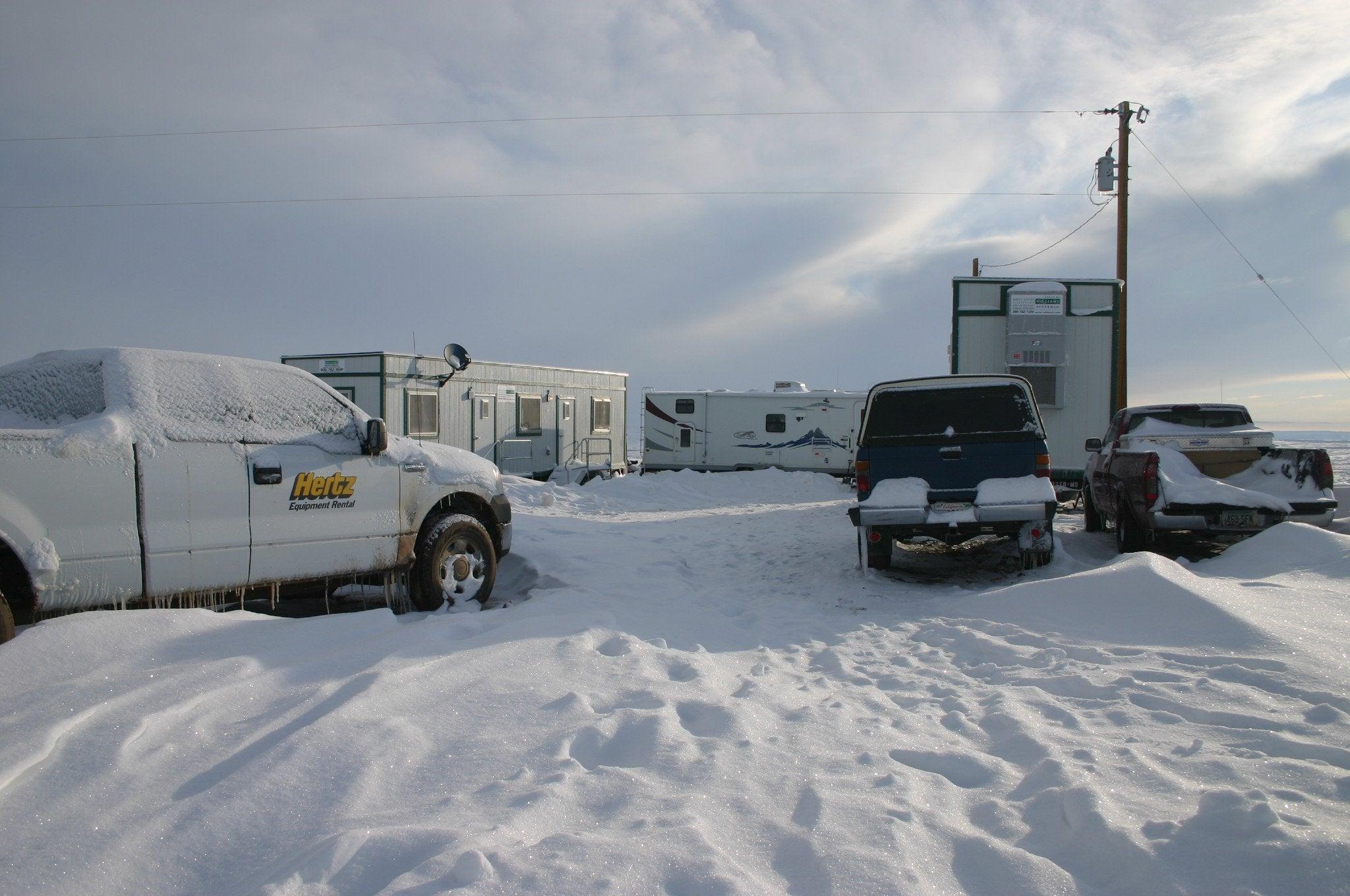 Chicken Camp under snow, 2007