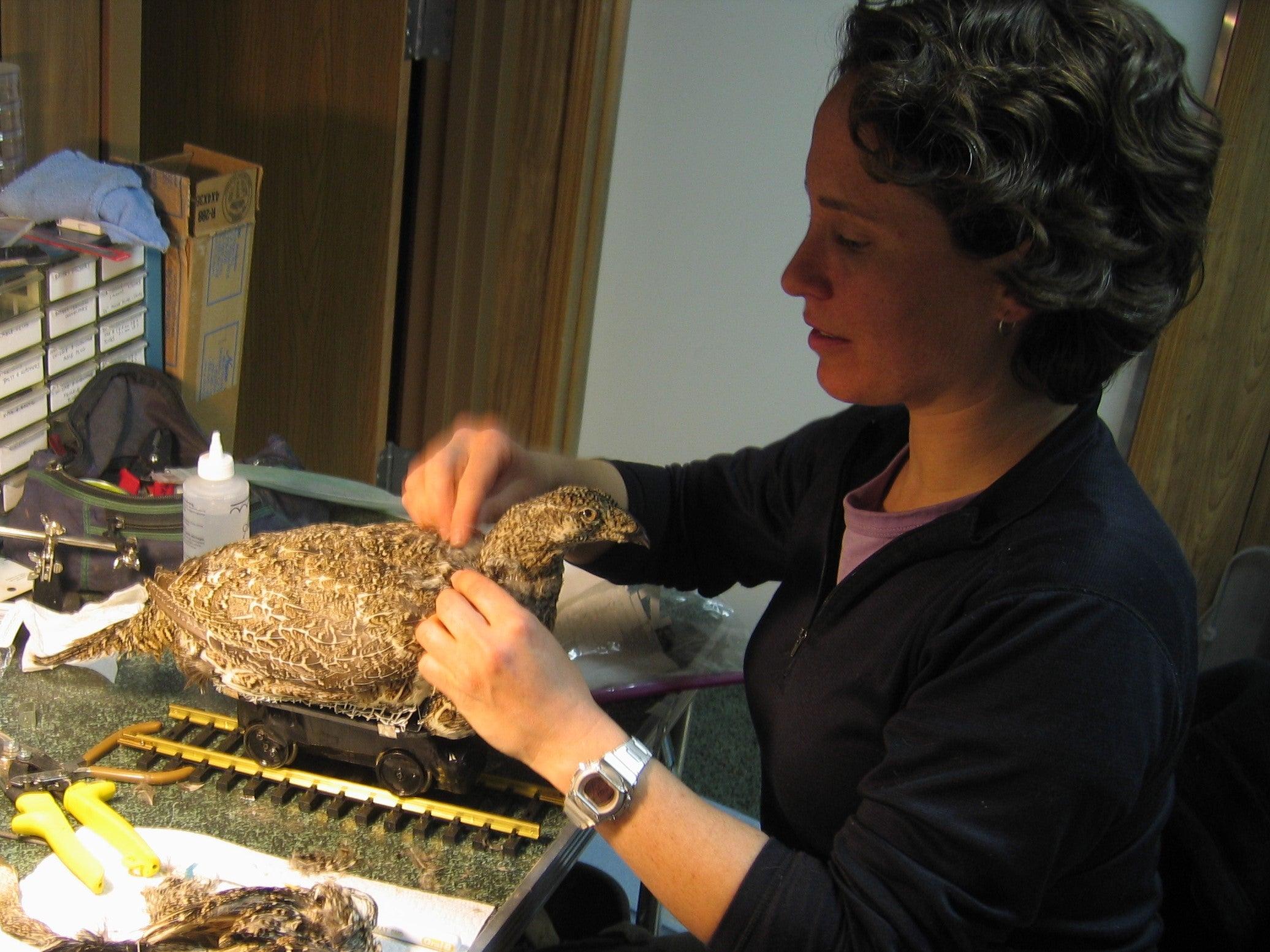 Gail making the robot (Fembot 1.0) 2007