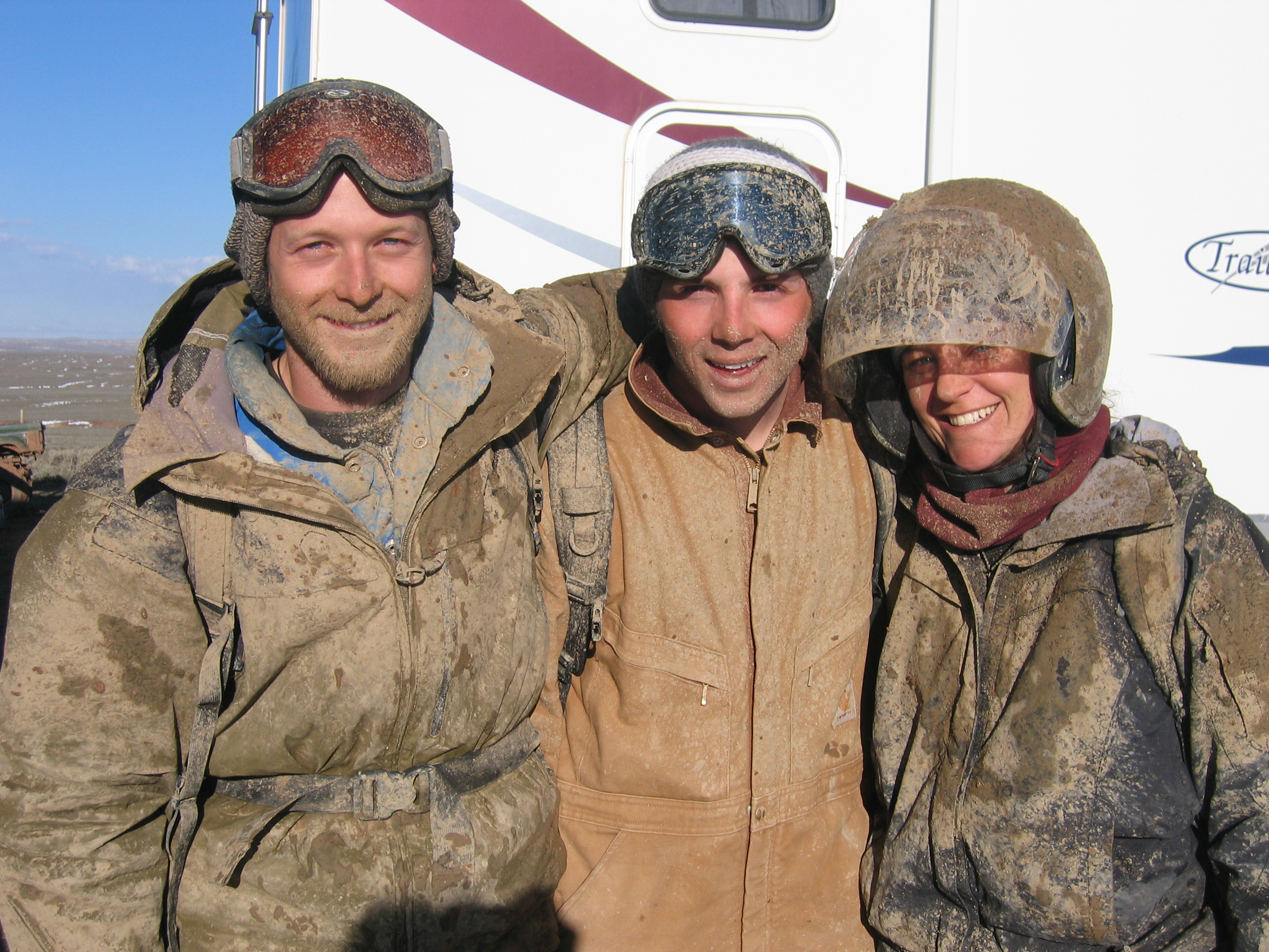 Melting snow means muddy days for the noise crew, 2007