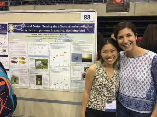 Lauren Poon and Allison Injaian at the UC Davis Undergraduate Research Conference, 2016